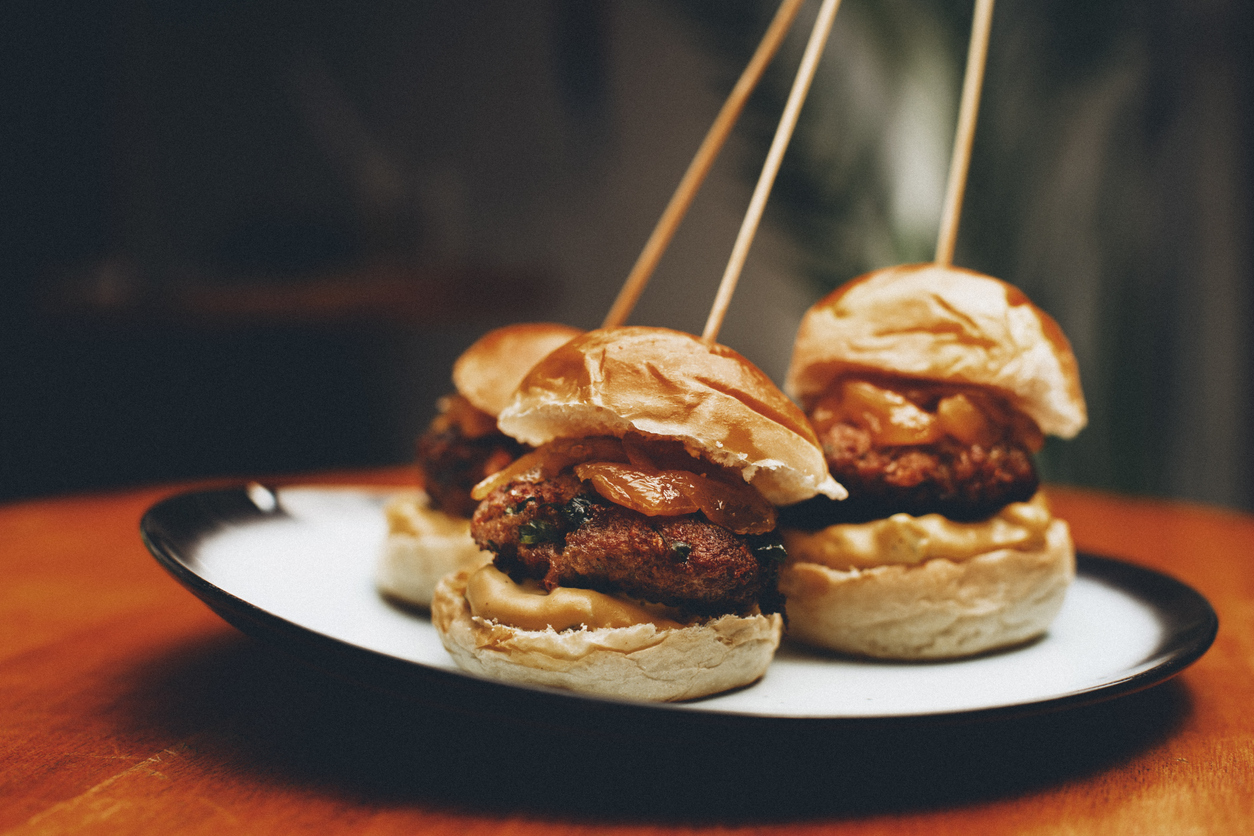 sliders on a plate