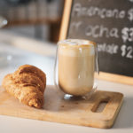 Latte and croissant | Hanover coffee shops