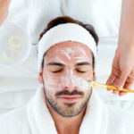 man getting a facial | day spas in Hanover, MD